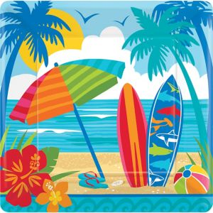 Sun & Surf Beach Dinner Plates 18ct
