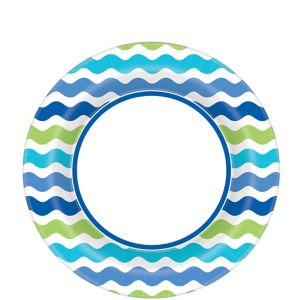 Cool Wavy Stripes Lunch Plates 40ct