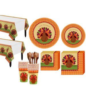 Turkey Dinner Tableware Kit for 18 Guests