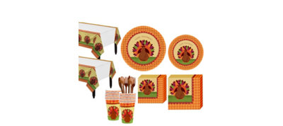 Turkey Dinner Tableware Kit for 18 Guests
