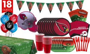 Arizona Cardinals Deluxe Party Kit for 18 Guests