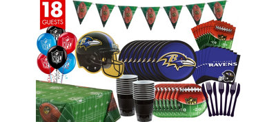 Baltimore Ravens Deluxe Party Kit for 18 Guests