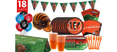Cincinnati Bengals Deluxe Party Kit for 18 Guests