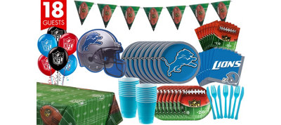 Detroit Lions Deluxe Party Kit for 18 Guests