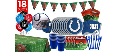 Indianapolis Colts Deluxe Party Kit for 18 Guests