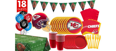 Kansas City Chiefs Deluxe Party Kit for 18 Guests