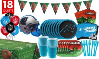 Carolina Panthers Deluxe Party Kit for 18 Guests