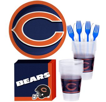 Chicago Bears Basic Party Kit for 18 Guests