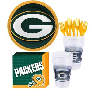 Green Bay Packers Basic Party Kit for 18 Guests
