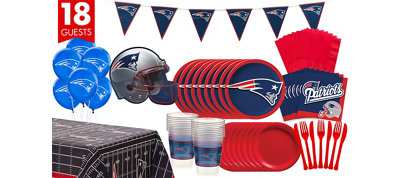 New England Patriots Deluxe Party Kit for 18 Guests