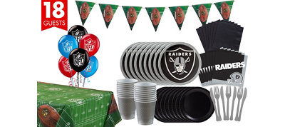 Oakland Raiders Deluxe Party Kit for 18 Guests