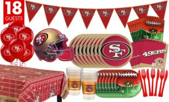 San Francisco 49ers Deluxe Party Kit for 18 Guests
