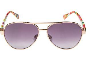 Rose Gold Floral Aviator Sunglasses