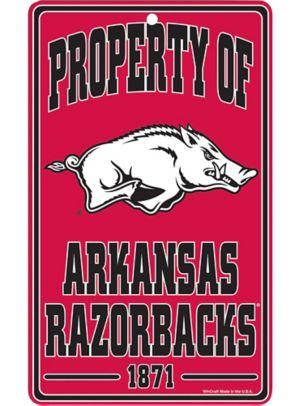 Property of Arkansas Razorbacks Sign
