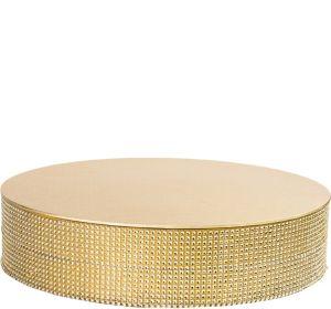 Rhinestone Gold Round Cake Base