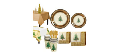 Victorian Christmas Tree Tableware Kit for 16 Guests