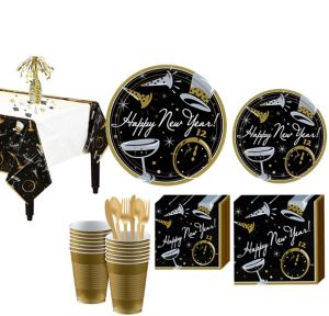 Black Tie Affair Ultimate Tableware Kit for 100 Guests