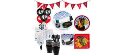 Chicago Blackhawks Super Party Kit for 16 Guests