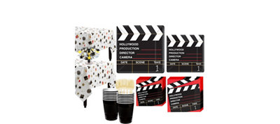 Clapboard Hollywood Tableware Kit for 32 Guests