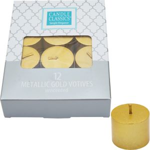 Gold Tealight Candles 12ct
