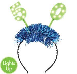 Light-Up 50th Birthday Head Bopper