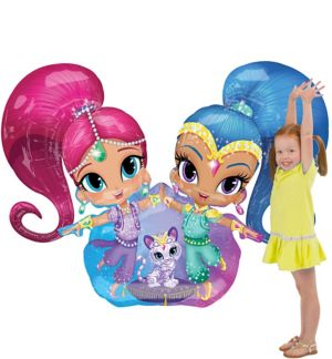 Giant Gliding Shimmer and Shine Balloon