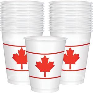 Canadian Maple Leaf Cups 25ct