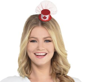 Mini Canadian Maple Leaf Top Hat Hair Clip