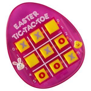 Pink Easter Egg Tic-Tac-Toe Game