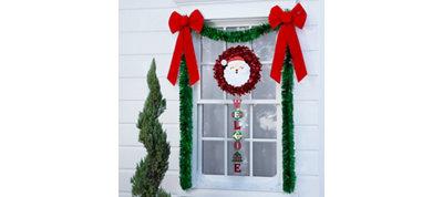 Santa Window Decorating Kit