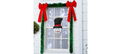 Snowman Window Decorating Kit