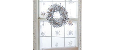 Silver Christmas Window Decorating Kit