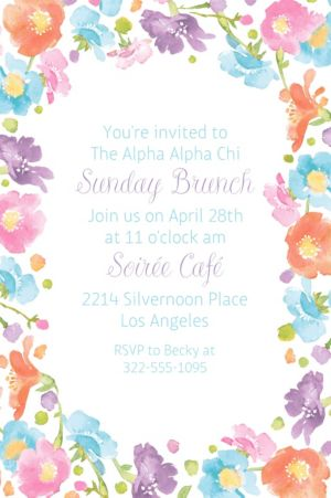 Custom Spring Has Sprung Floral Invitation