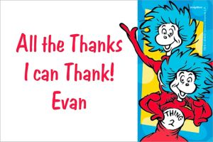 Custom Dr. Seuss Thank You Note