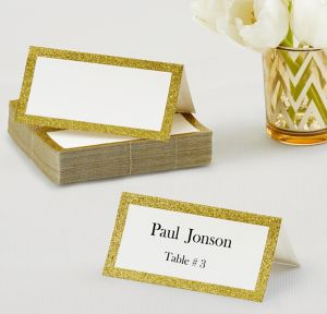 Glitter Gold Place Cards 50ct