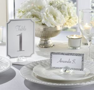 Clear Gem Place Card Holders 10ct