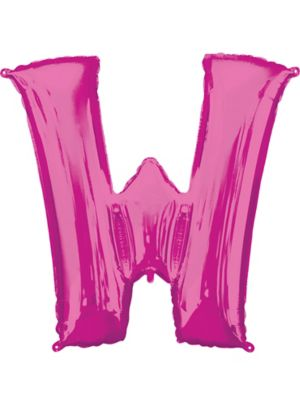 Giant Pink Letter W Balloon