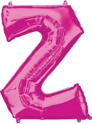 Giant Pink Letter Z Balloon