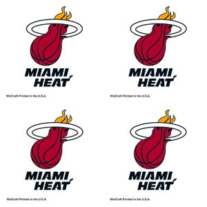 Miami Heat Face Tattoos 4ct