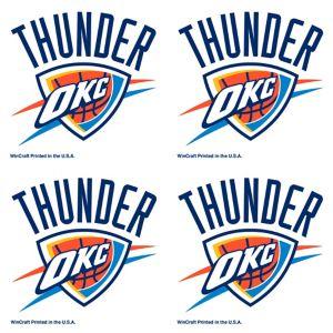 Oklahoma City Thunder Face Tattoos 4ct