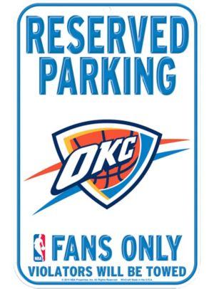 Reserved Parking Oklahoma City Thunder Sign