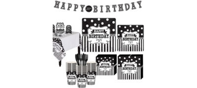 Chalkboard Birthday Basic Party Kit for 32 Guests
