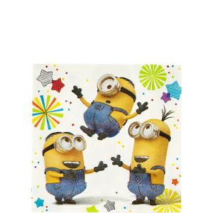 Minions Beverage Napkins 16ct