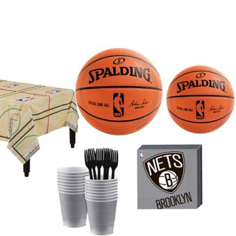 Brooklyn Nets Basic Party Kit 16 Guests