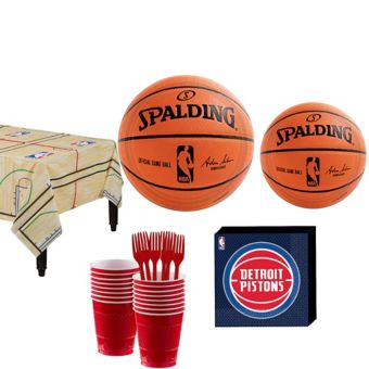 Detroit Pistons Basic Party Kit 16 Guests