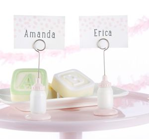 Pink Bottle Place Card Holders