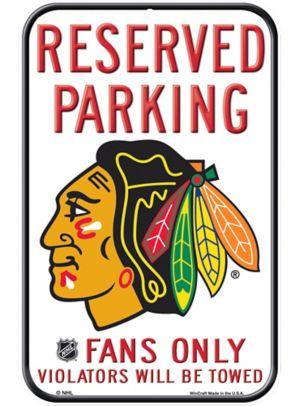 Reserved Parking Chicago Blackhawks Sign