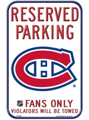 Reserved Parking Montreal Canadiens Sign