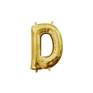 Air-Filled Gold Letter D Balloon