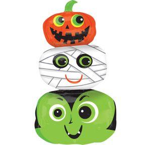 Giant Stacked Vampire, Mummy & Jack-o'-Lantern Balloon